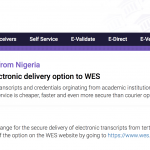 Sending Electronic Transcripts from Nigeria to WES
