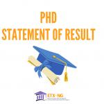 PhD Statement of Result Storage Online
