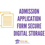 Admission Application Form Online Storage in Nigeria