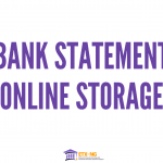 Storing Your Bank Statement Online