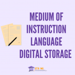 Medium of Instruction Language Report Storage Online in Nigeria