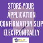Store Your Application Confirmation Slip Online in Nigeria