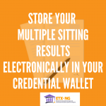 Store Multiple Sitting Result Online in Credential Wallet