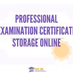 Professional Examination Certificate Storage in Online Credential Wallet