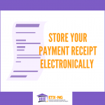 Electronic Storage of Payment Receipts